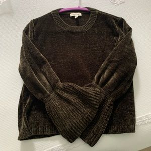 LF WILDFLOWER chenille bell sleeve sweater NWOT XS